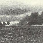 shell of Hood misses Bismarck