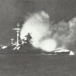 Bismarck is firing on Hood