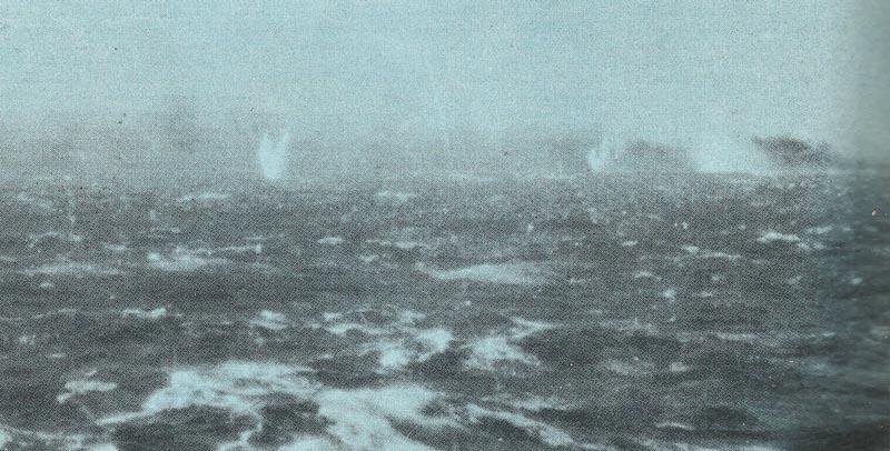 burning Bismarck