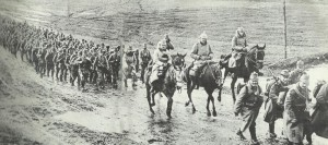 German Jaeger battalion in Russian Poland