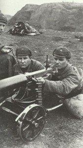 Russian machine-gun team training on the M1910 Maxim