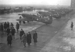 King visits RAF squadrons in France 1939