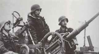 20mm light flak crewed by Luftwaffe boys