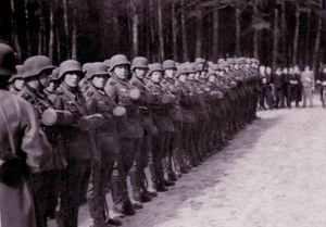 Wehrmacht soldiers in training