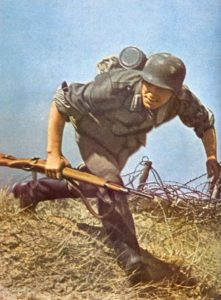 German 'Landser' with the Mauser rifle