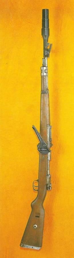 Kar 98k with rifle grenade launcher