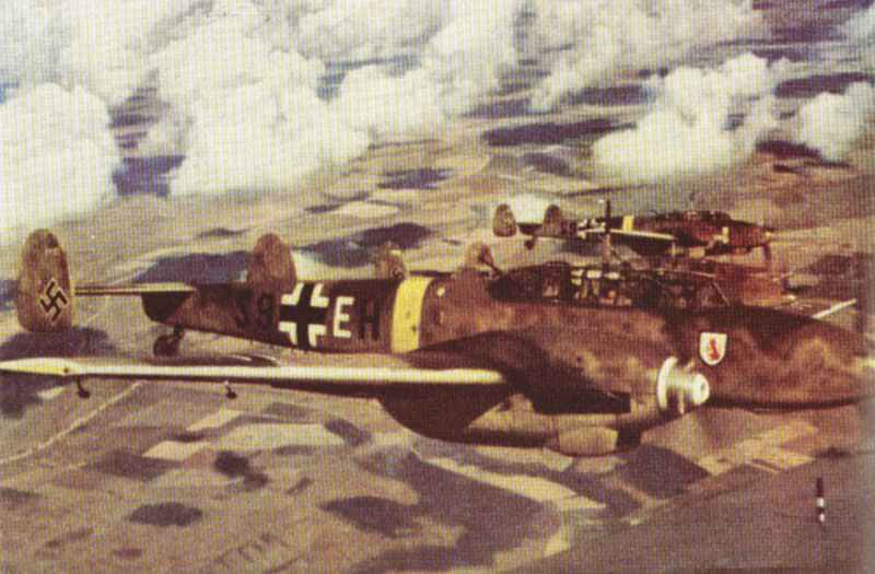Me 110 over Eastern Front