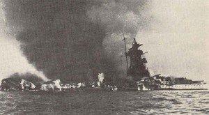 Admiral Graf Spee burning