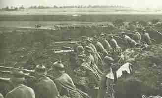 German soldiers in one of the last maneuvers