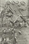 aircrafts on deck of carrier of Essex class