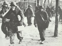 Grenadiers in suburb of Budapest