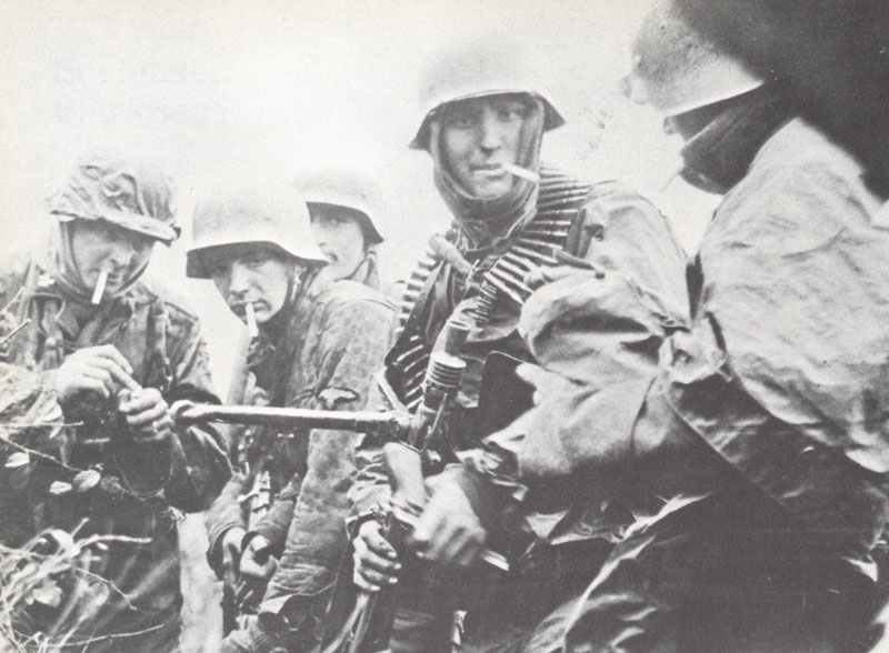 The last cigarette for Wehrmacht soldiers