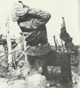 Russians under artillery bombardment