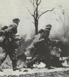 SS Grenadiers advancing Ardennes