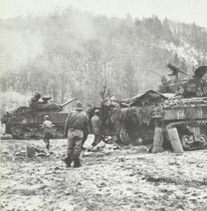 US tanks stop German advance