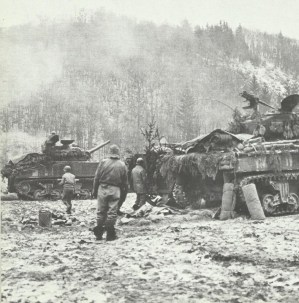 US tanks stop German advance