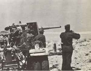 88 mm Flak ready for firing during Operation Battleaxe