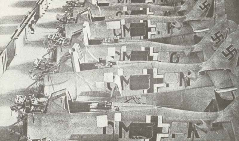 assembly line of German Focke-Wulf Fw 190