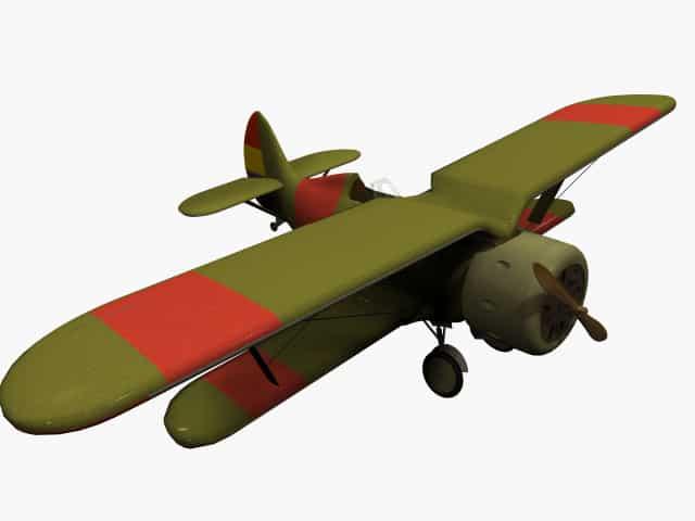 3D model Polikarpov I-15 Chato