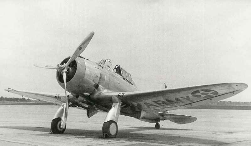 Seversky P-35 fighter of the 27th Pursuit Squadron