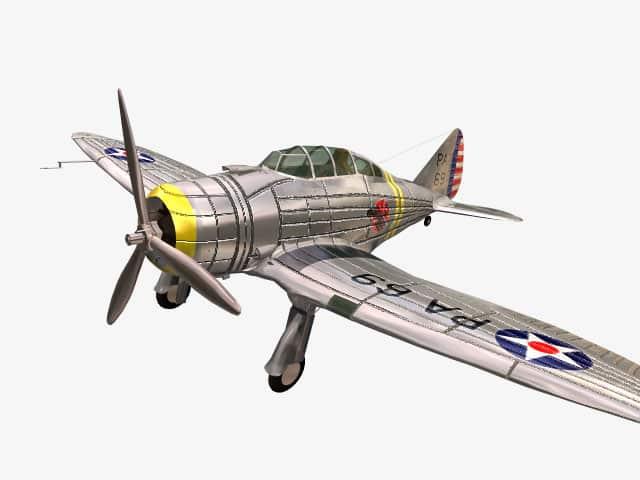 3D model Seversky P-35