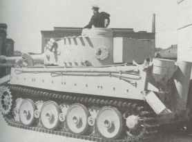 PzKpfw VI Tiger I with the narrow tracks that were put on travel or transportation