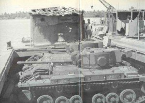 Valentine tanks in Iran during transit to Russia