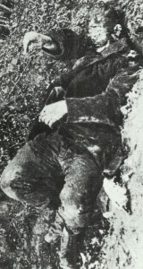 Killed French soldier