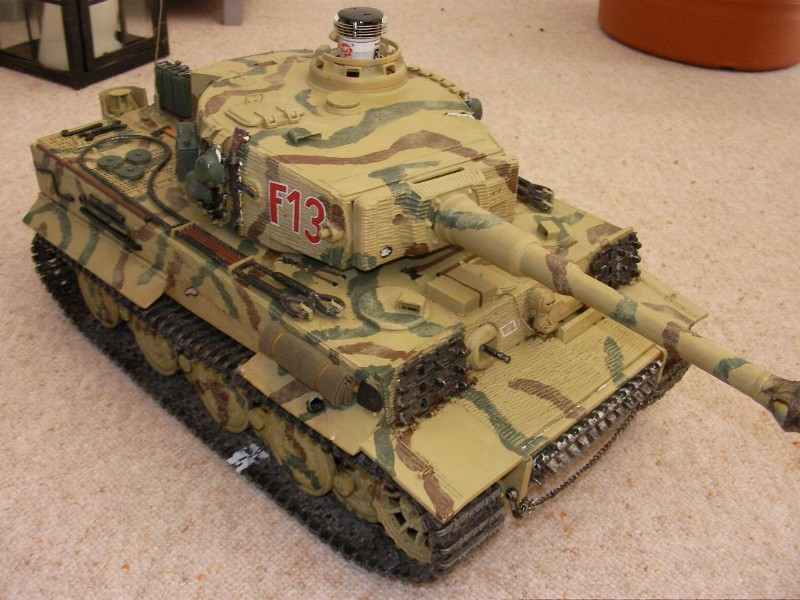 remote-controlled model Tiger tank.
