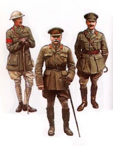British officers 1914-1918