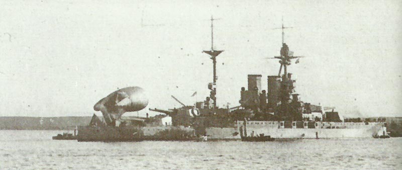 'Queen Elizabeth' toward the end of World War One,