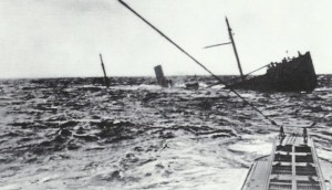 U-boat close to victim