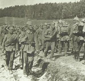 German troops invading Northwest Russia 1915