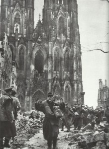 German soldiers surrender in Cologne