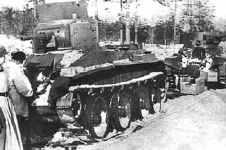 BT-5 tank column