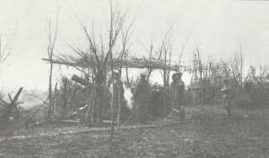 British howitzers at Neuve-Chapelle.