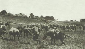 German troops moving forward to Przemysl