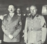 Hitler and Mussolini at the Munich Conference