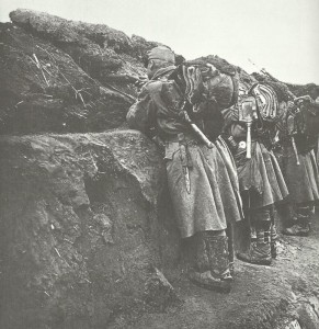 Austr-Hungarian soldiers man the firestep