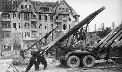 Katyusha bombards Berlin