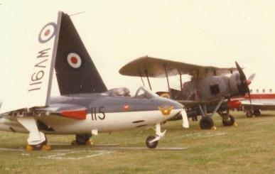 Swordfish biplane flight show