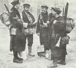 Group of British soldiers