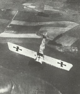 Fokker E monoplane goes into a dive