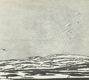German paratroopers drop near Narvik
