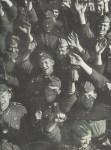 Cheering German soldiers
