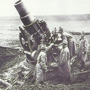 heavy 30.5-cm-mortar on the Eastern Front