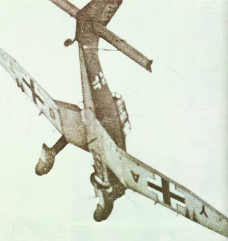 Dive attack of a Stuka