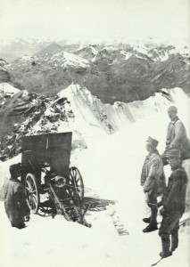 mountain gun on Pleisshorn