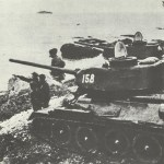 Russian tanks on the shore of Lake Khanka