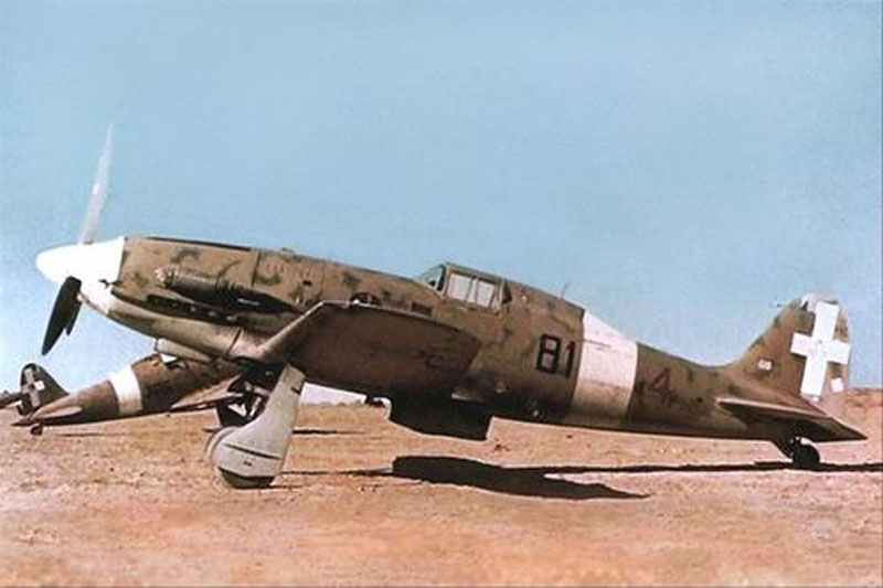 Macchi Folgore on an airfield in North Africa